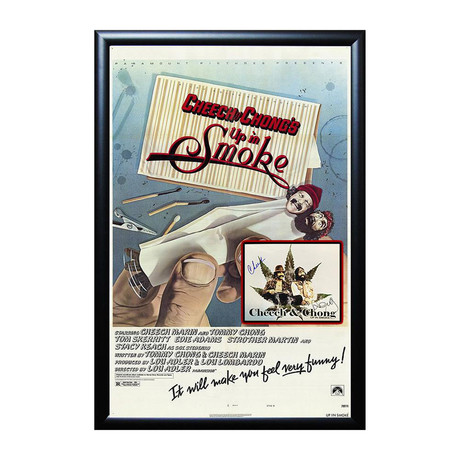 Autographed Movie Poster // Cheech and Chong