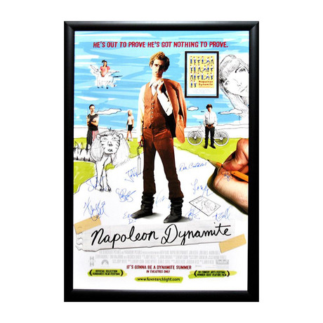 Autographed Movie Poster // Napoleon Dynamite