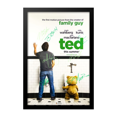 Autographed Movie Poster // TED // Urinal