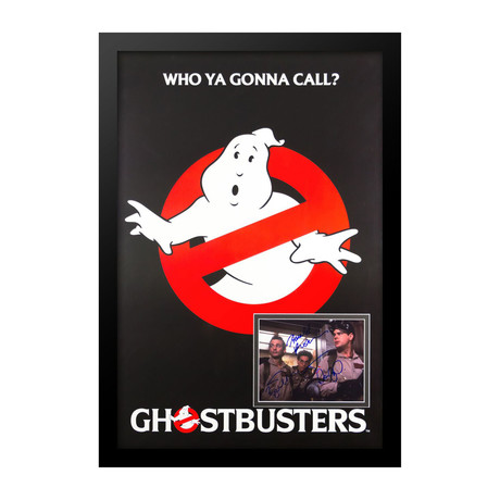Movie Poster with Autographed Photo Insert // Ghostbusters