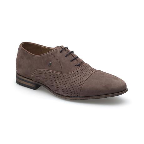 Gavino Nubuck Shoe // Brown