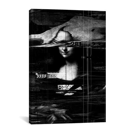 "Mona Lisa Glitch // Nicebleed (18""W x 26""H x 0.75""D)"