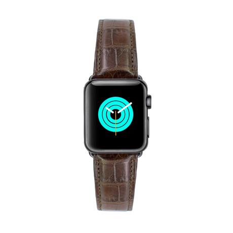 Genuine Alligator Apple Watch Strap // Brown