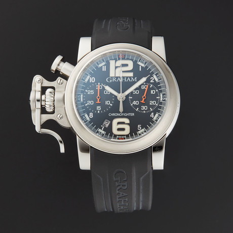 Graham Chronofighter R.A.C . Black Fighter Automatic // 2CRBS.B02A.K25B // Store Display