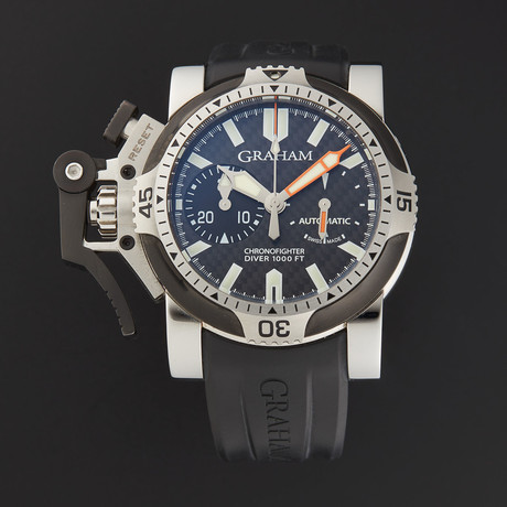 Graham Chronofighter Oversize Diver Tech Seal Automatic // 2OVDIVAS.B03A.K10B // Store Display
