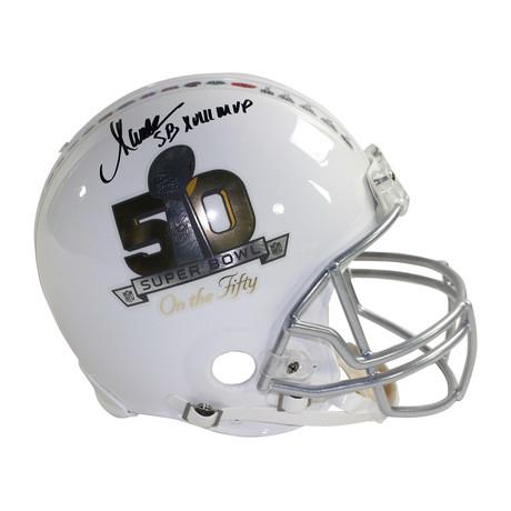 Marcus Allen Signed Super Bowl 50 Helmet