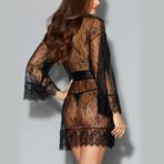 Romantic Lace Kimono Robe // Black (XS)