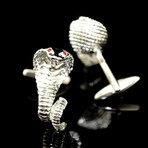 Exclusive Cufflinks + Gift Box // Silver Snakes