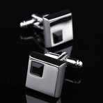 Exclusive Cufflinks + Gift Box // Silver + Black