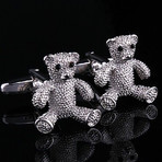 Exclusive Cufflinks + Gift Box // Silver Bears