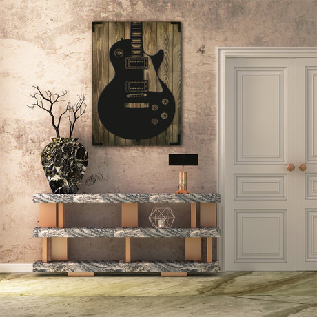 Wooden Poster // Guitar