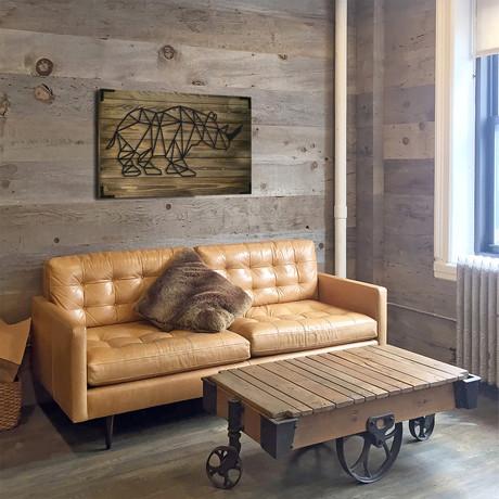 Wooden Poster // Rhino