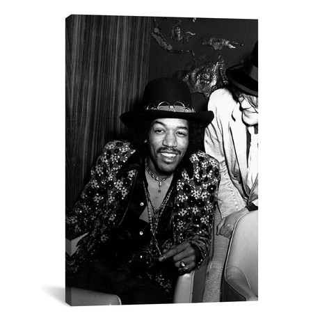 Jimi Hendrix Sitting Backstage // Globe Photos, Inc.