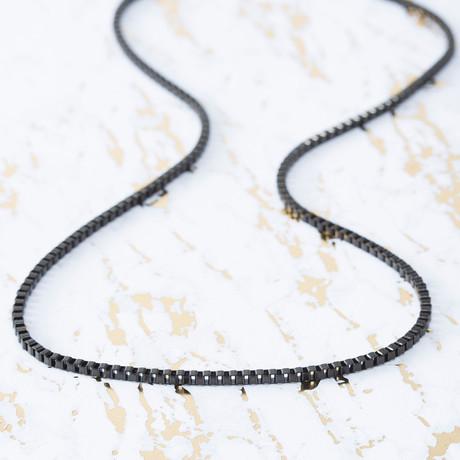 Brooklyn Exchange Men's Necklace // IP Box Chain // 3mm