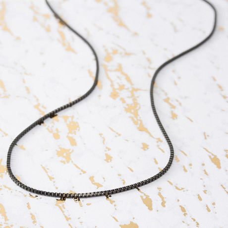 Brooklyn Exchange Men's Necklace // IP Box Chain // 2mm