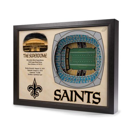 New Orleans Saints // Mercedes-Benz Superdome (5-Layer)