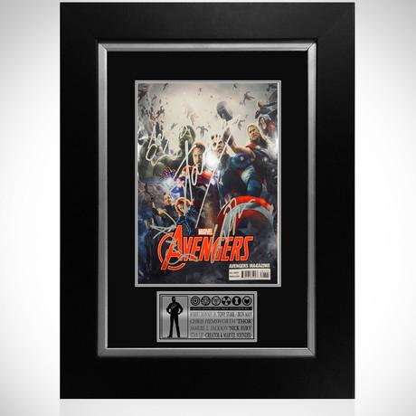 Avengers // Cast + Stan Lee Signed Magazine // Custom Frame