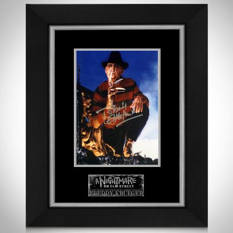 Nightmare On Elm Street // Freddy Krueger Signed Photo // Custom Frame