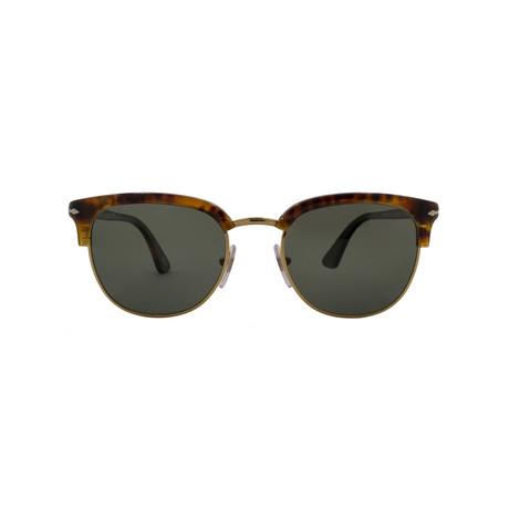 Persol Classic Men's Polarized Clubmaster Sunglasses // Caffe