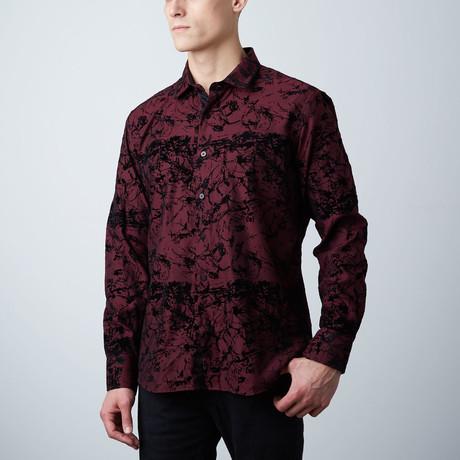 Premium Style Slim Button Down Shirt // Wine