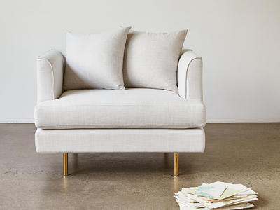 Gus* Modern Mid Century-Inspired Modern Furniture Margot Chair (Cambie Parchment) by Touch Of Modern - Denver Outlet
