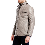 Quilted Snap Button Jacket // Gray (XL)