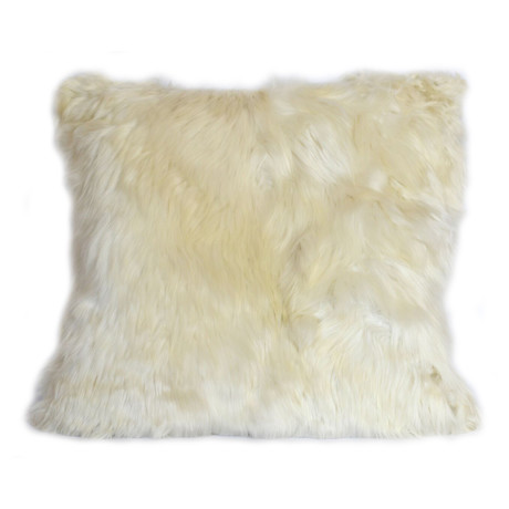 Large Alpaca Suri Cushion (Ivory)