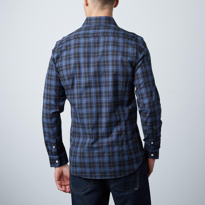 9ec92efb68 Thompson Slim Shirt    Black + Blue Plaid (XS) - Hyden Yoo - Touch ...