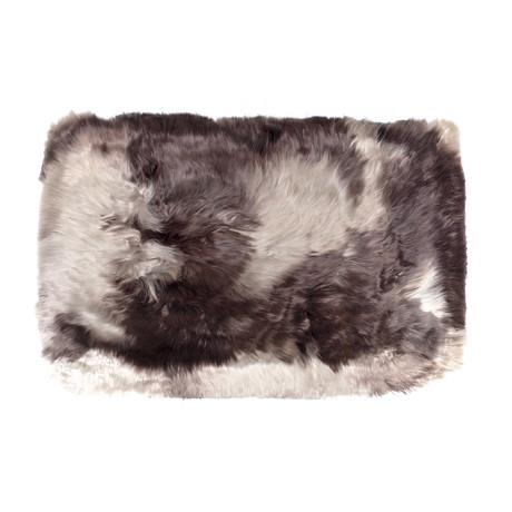 Long Alpaca Suri Cushion Mabre (Espresso)