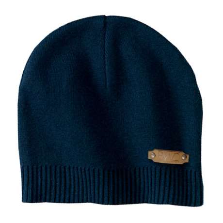 The Perfect Fit Cotton Beanie // Navy