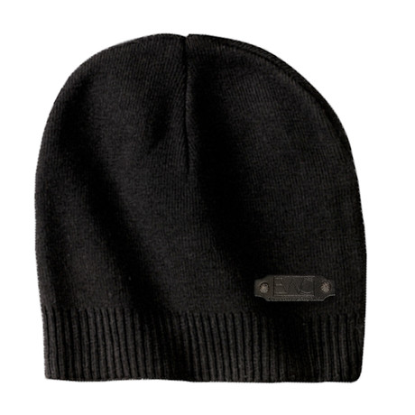 The Perfect Fit Cotton Beanie // Black