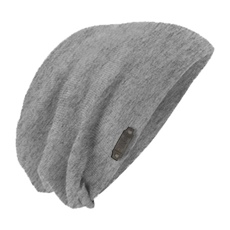 The Perfect Fit Slouch Beanie // Light Grey