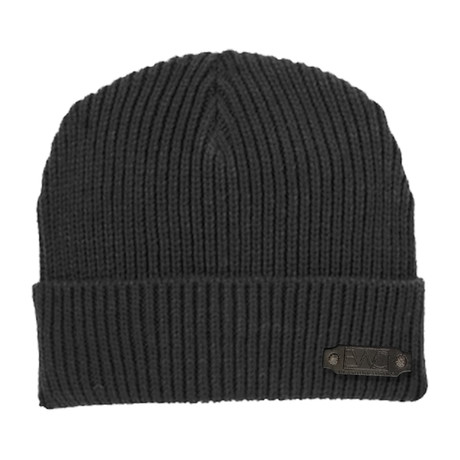 Rib Knit Cap // Black
