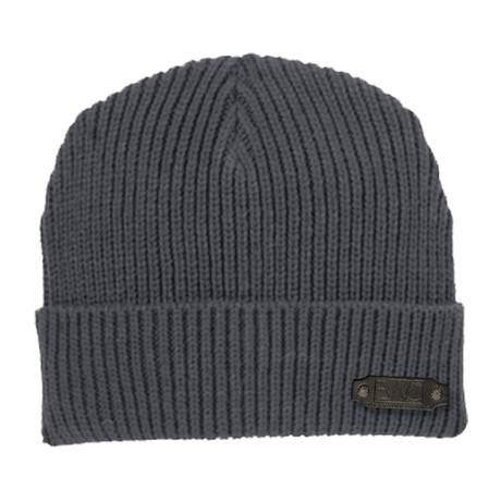 Rib Knit Cap // Graphite