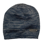 Spaced Dyed Beanie // Navy + Charcoal
