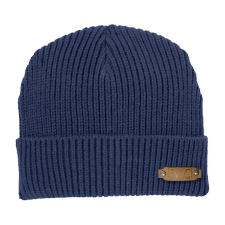 Rib Knit Cap // Navy