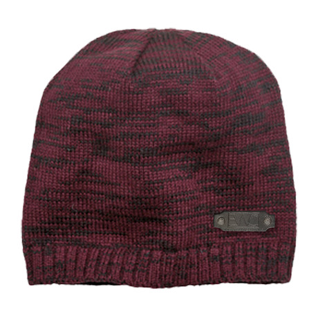 Spaced Dyed Beanie // Maroon + Black