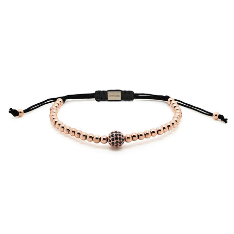 Rose Gold Bracelet // CZ Bead