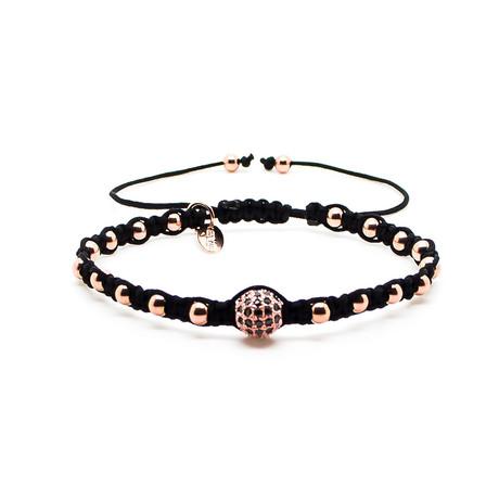Rose Gold Bracelet // CZ Macrame
