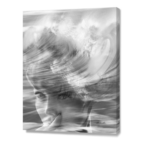 Wave Girl // Stretched Canvas