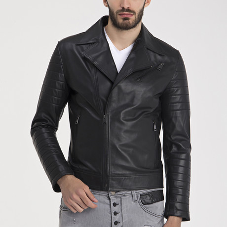 Jayce Leather Jacket // Black (S)