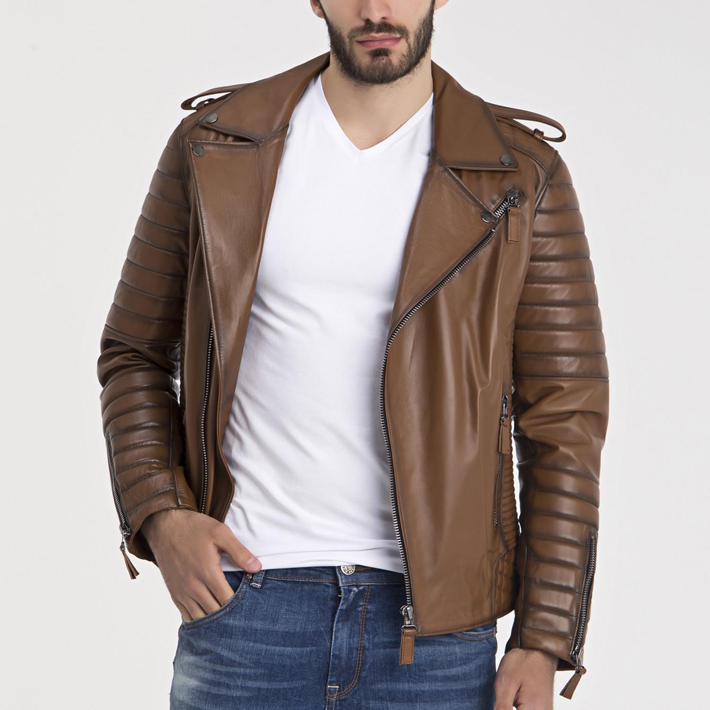Beckett leather jacket light brown s iparelde for Beckett tech support