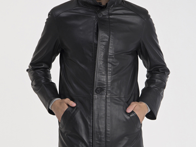 Photo of CLEARANCE: Outerwear We've Got You Covered Peyton Leather Jacket // Black (XL) by Touch Of Modern