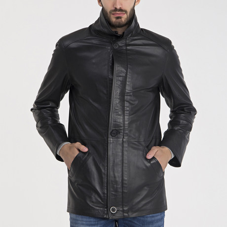Peyton Leather Jacket // Black (XL)