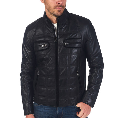 Scott Leather Jacket // Black (S)