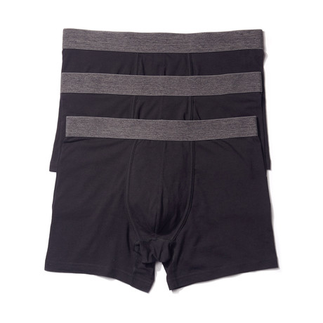 Stretch Boxer Brief // Black // Pack of 3