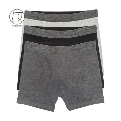 Boxer Brief with Fly // Multicolor // Pack of 3 (S)