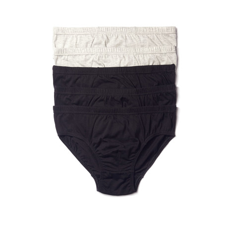 Low-Rise Brief // Black + Gray // Pack of 5 (S)