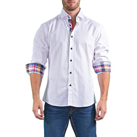 Finlay Long-Sleeve Button-Up Shirt // White