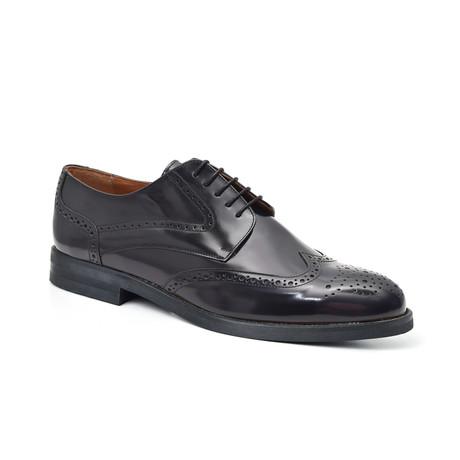 Cresset Derby Leather Shoe // Blue
